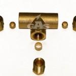 Тройник для медной трубки д. 6 мм – 6 мм - 8 мм