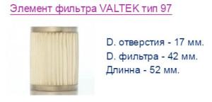 Элемент фильтра VALTEK тип 97